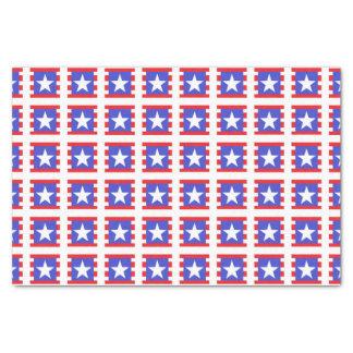 Papel De Seda Estrellas, rayas y cuadrados patrióticos