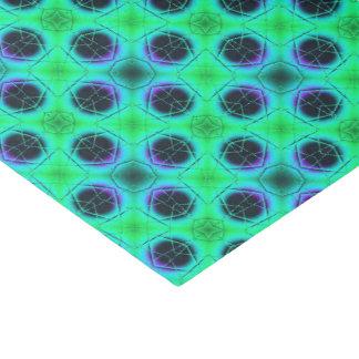 Papel De Seda Extracto geométrico azul púrpura verde