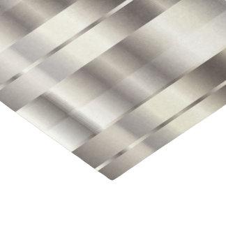 Papel De Seda Falsas rayas diagonales metálicas de plata