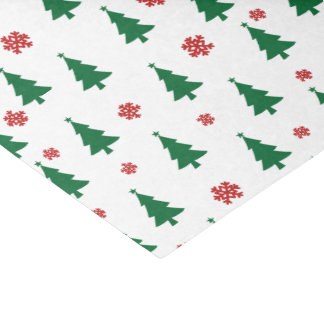 Papel De Seda Felices árboles de navidad