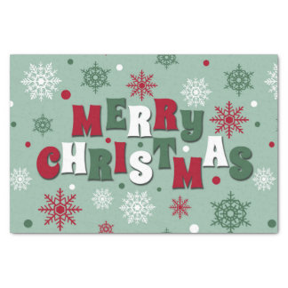 Papel De Seda Felices Navidad