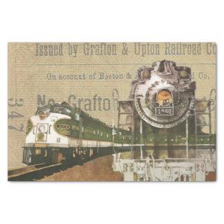 Papel De Seda Ferrocarril locomotor del motor de vapor del tren