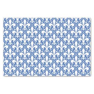 Papel De Seda Flor de lis francesa azul y blanca bonita