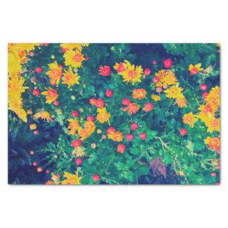 Papel De Seda Flores salvajes caprichosas de la margarita del
