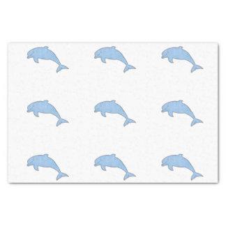 Papel De Seda Fuentes azules del fiesta de los delfínes