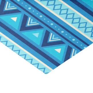 Papel De Seda Geométrico al sudoeste moderno, azul y turquesa