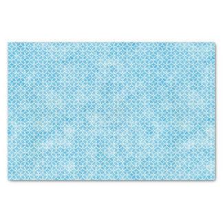 Papel De Seda Geométrico azul y blanco