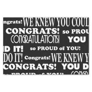 Papel De Seda Graduado blanco y negro de Congrats