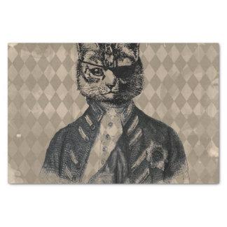 Papel De Seda Grunge del gato del Harlequin