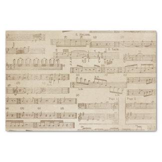 Papel De Seda Hoja de música del vintage