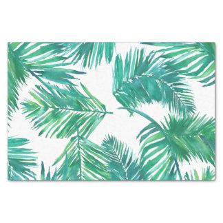 Papel De Seda hojas de palma tropicales de la acuarela