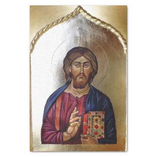 Papel De Seda Icono bizantino del estilo de Cristo Pantocrator
