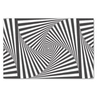 Papel De Seda Ilusión óptica espiral blanca negra hermosa
