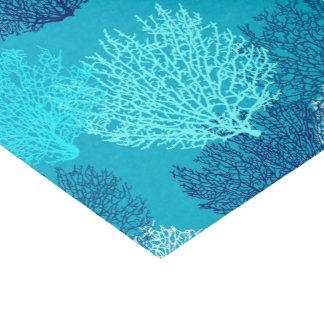 Papel De Seda Impresión de la fan, turquesa, aguamarina y azul