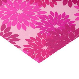 Papel De Seda Impresión floral moderna, rosa, fucsia y vino del