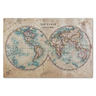 Papel De Seda la antigüedad, grunge, vintage, mundo, mapa, mano