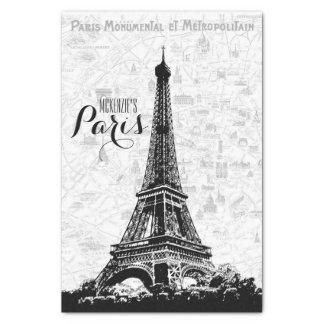 Papel De Seda La torre Eiffel de París añade su nombre