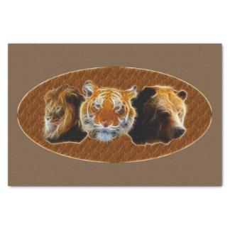 Papel De Seda León y tigre y oso
