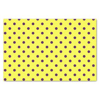 Papel De Seda Lunares amarillos y púrpuras