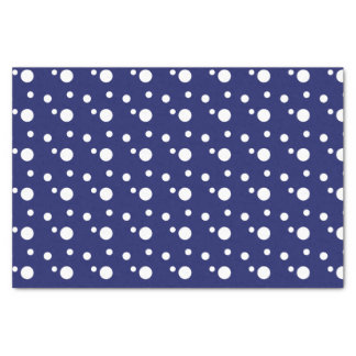 Papel De Seda Lunares azul marino y blancos