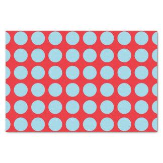 Papel De Seda Lunares azules en colores pastel rojos