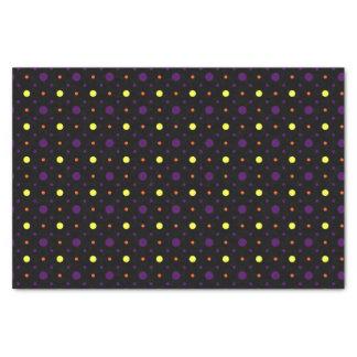 Papel De Seda Lunares negros y multi 01 del tamaño