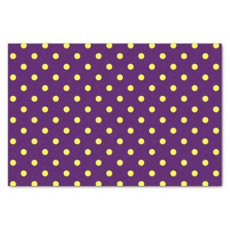 Papel De Seda Lunares púrpuras y amarillos medios