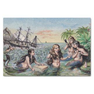 Papel De Seda Magia de la antigüedad del vintage de la sirena