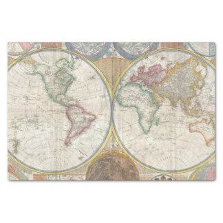 Papel De Seda Mapa del mundo del vintage