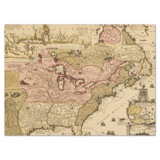 Papel De Seda Mapa medieval América del francés de Quebec/de