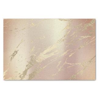Papel De Seda Mármol metálico del oro color de rosa de cobre de
