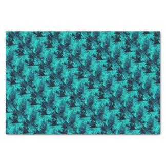 Papel De Seda Modelo abstracto brillante del azul y del trullo