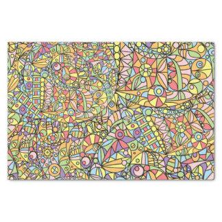 Papel De Seda Modelo abstracto colorido de las fantasías del