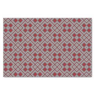 Papel De Seda Modelo abstracto geométrico rojo y gris del