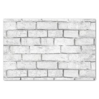 Papel De Seda Modelo blanco de la pared de ladrillo