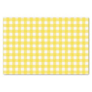 Papel De Seda Modelo comprobado guinga amarilla soleada