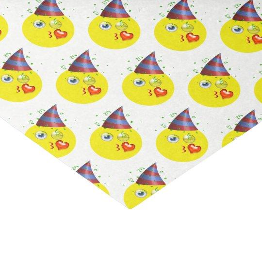 Papel De Seda Modelo de Emoji del cumpleaños