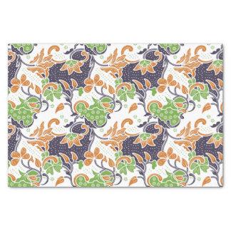 Papel De Seda Modelo floral artístico del batik de las vides