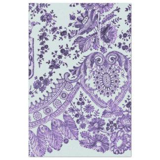 Papel De Seda Modelo floral púrpura del cordón