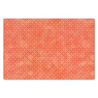 Papel De Seda Modelo geométrico anaranjado