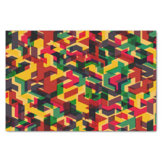 Papel De Seda Modelo geométrico colorido