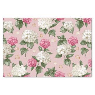Papel De Seda Modelo inconsútil floral del Hydrangea rosado