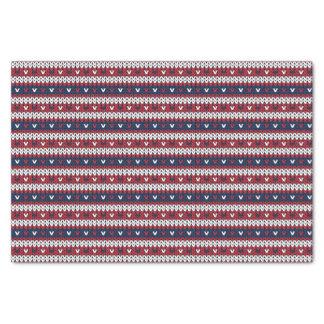 Papel De Seda Modelo patriótico del suéter del navidad