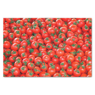 Papel De Seda Modelo rojo de los tomates de cereza
