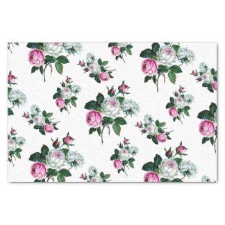 Papel De Seda Modelo rosado elegante lamentable de los rosas