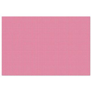 Papel De Seda Modelo simple blanco de la tela escocesa del rosa