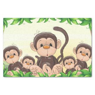 Papel De Seda Monkey a la 1ra fiesta de cumpleaños