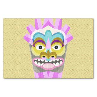 Papel De Seda Monstruo divertido de la choza de Tiki de la