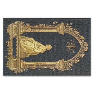 Papel De Seda Mujer de Falln en cubierta de libro del oro