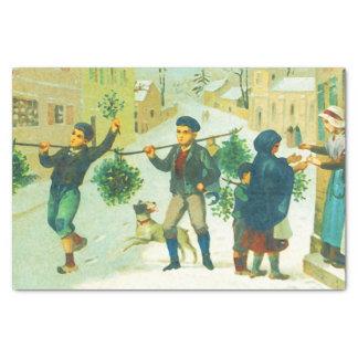 Papel De Seda Navidad del vintage